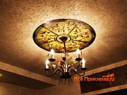 Пробковое покрытие на потолке